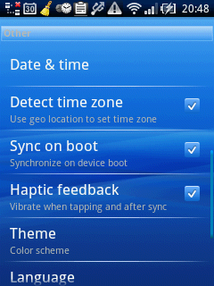 ClockSync Settings