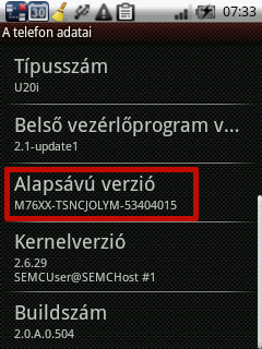 Dual Touch Sony Ericsson Xperia X10 Mini Pro Kernel and Baseband