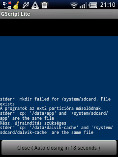 stderr: mkdir failed for /system/sdcard, File exists