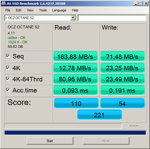 AS SSD OCZ Octane 2.0