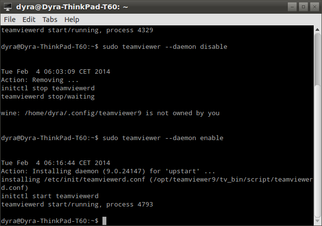 Lxterminal -sudo teamviewer --daemon enable-