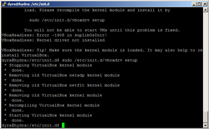 vboxdrv kernel module is not loaded