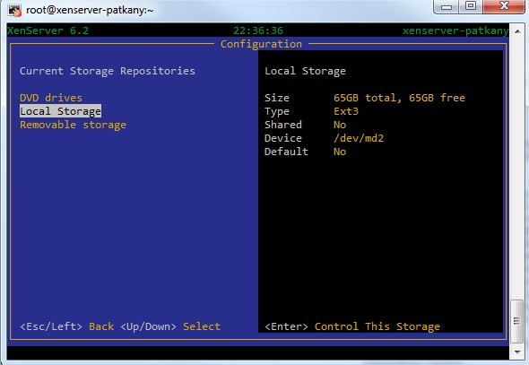 XenServer New local storage